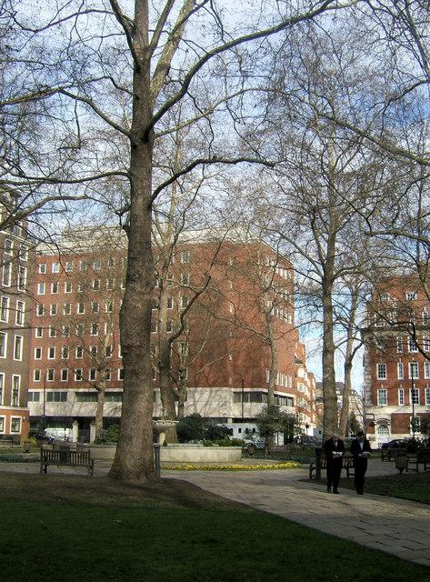 Horseferry Road from St John's Gardens, Westminster, London SW1