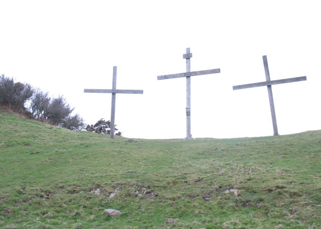 Crosses above Lee Abbey