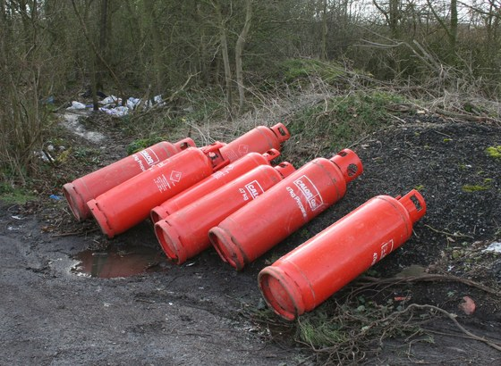 Fly tipping is not a gas