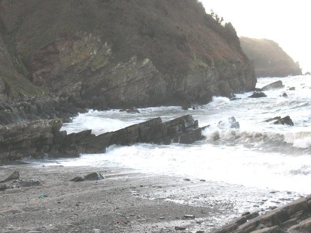 Lee Bay at high tide