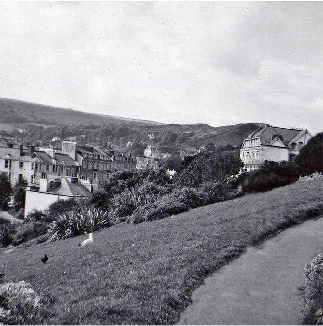 Southern Slope Gardens, Ilfracombe, Devon, taken 1960