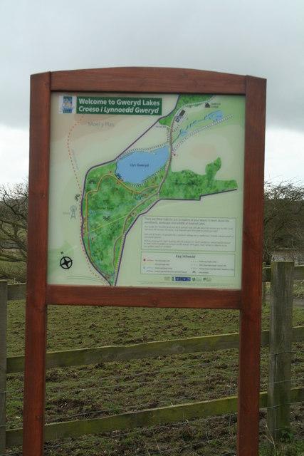 Gweryd Lakes Site Map