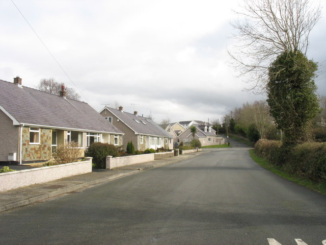 Semi-detached bungalows on the Tan-y-Buarth estate