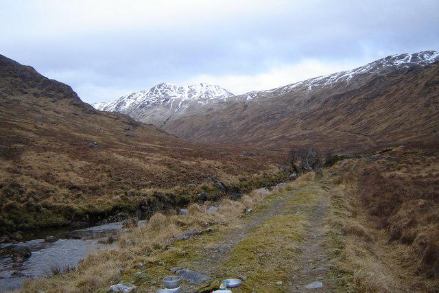 Track and Cona River in Cona Glen