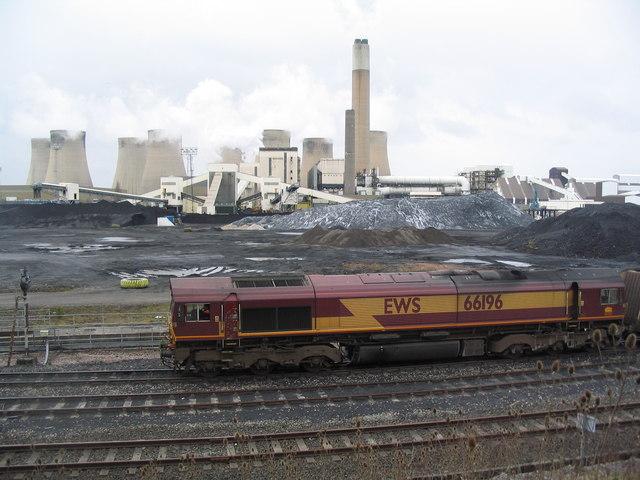 Coal store at Ratcliffe on Soar power station