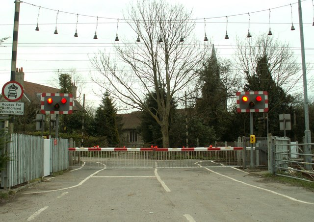 The level crossing at Margaretting