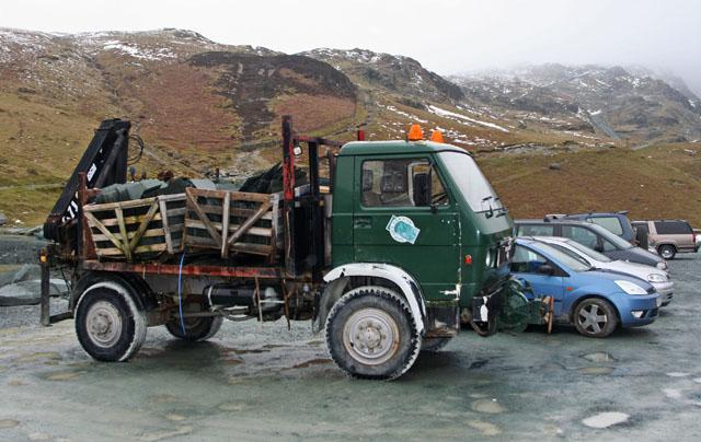 Slate lorry