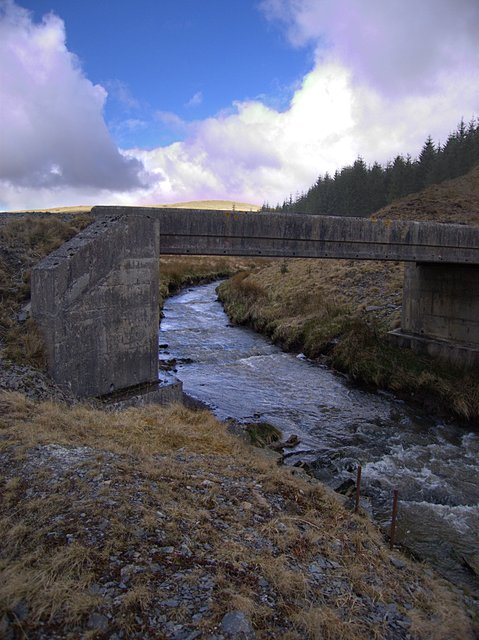 Bridge across the Nant Gwinau