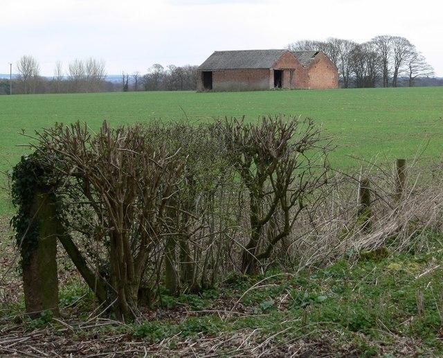 Farm buildings near Gopsall wood