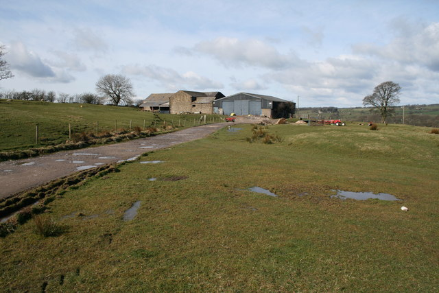 Farm buildings on the Marl House road