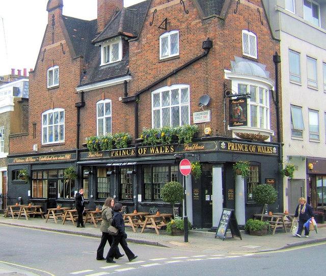 Prince of Wales, Wilton Road junction of Longmoore Street, London SW1