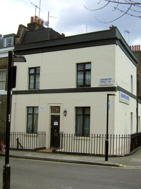 Romany Hotel, Longmoore Street junction of Guildhouse Street, London SW1
