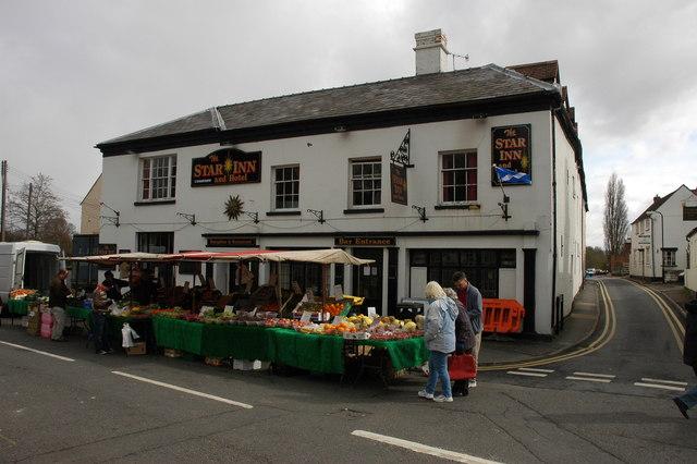 Market stalls, Upton-upon-Severn