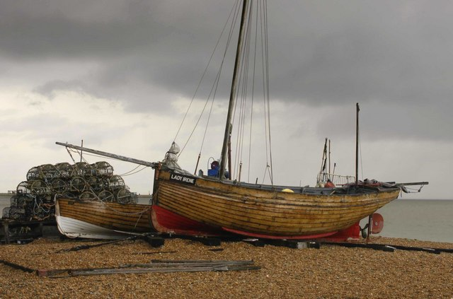 Fishing Boats on Deal Beach, Kent