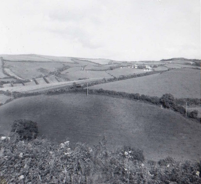 Farmland near Hillsborough, Devon taken 1960
