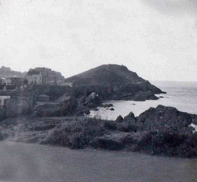 View from Hillsborough, Devon taken 1960