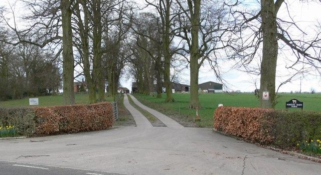 Driveway to Norton Barn Farm