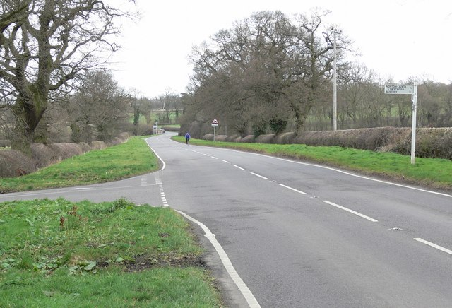 Ashby Road towards Snarestone