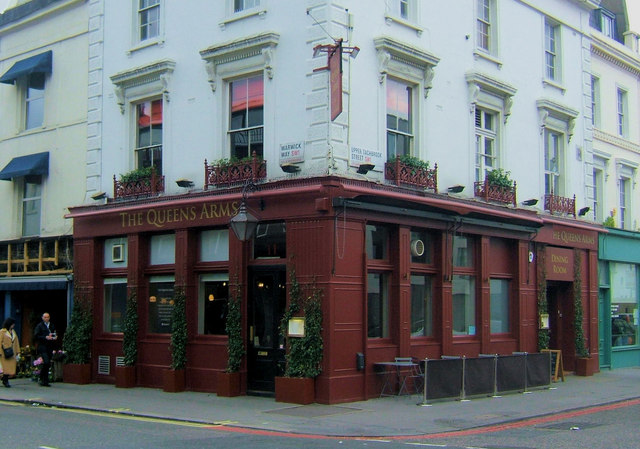 The Queens Arms, junction of Warwick Way and Upper Tachbrook Street, London SW1