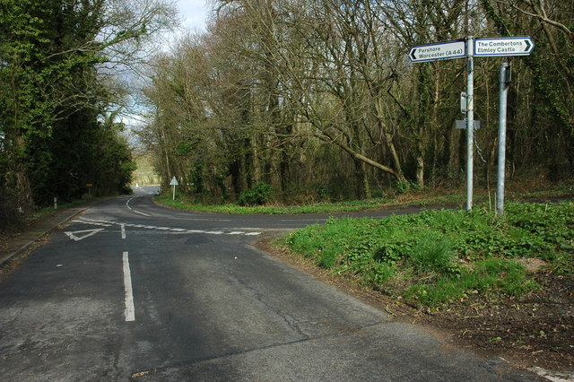 Road junction at Pensham
