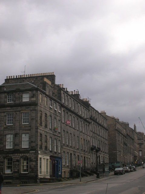 Dundas Street at junction with Fettes Row
