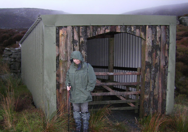 Luncheon Hut (Shooting) in Tarnsyke Clough,and Alex