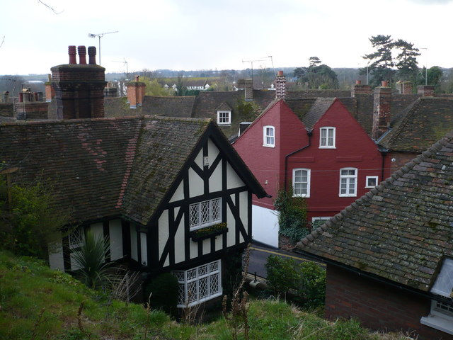 Aylesford rooftops from the church