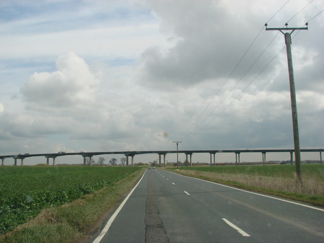 The M62 Motorway crossing Hook Lane