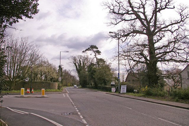 Junction of The Ridgeway (A1005) with East Lodge Lane, Enfield