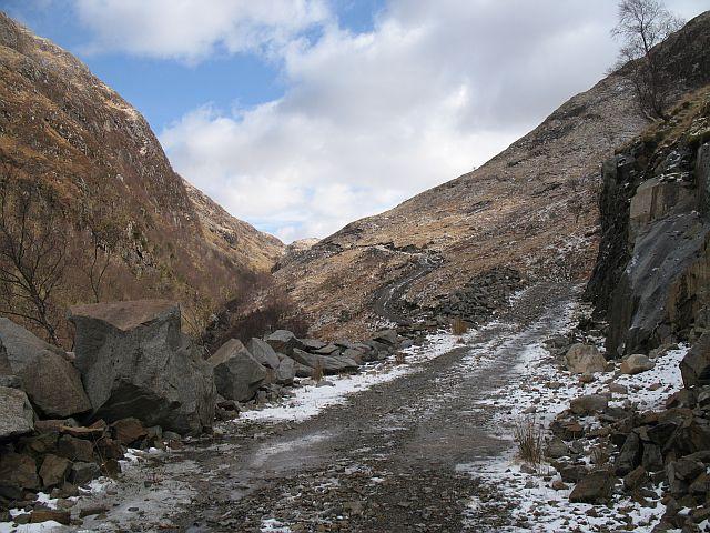 New road, Glen Ure