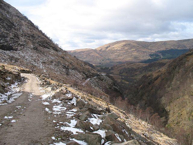 Looking west down Glen Ure