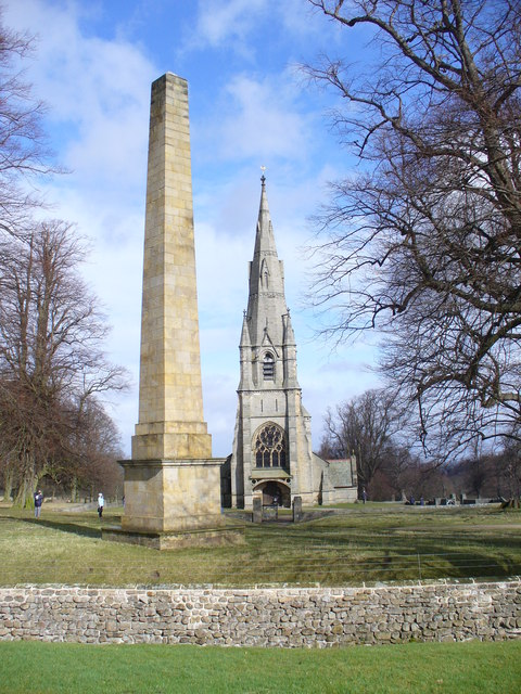 Obelisk and St Mary's