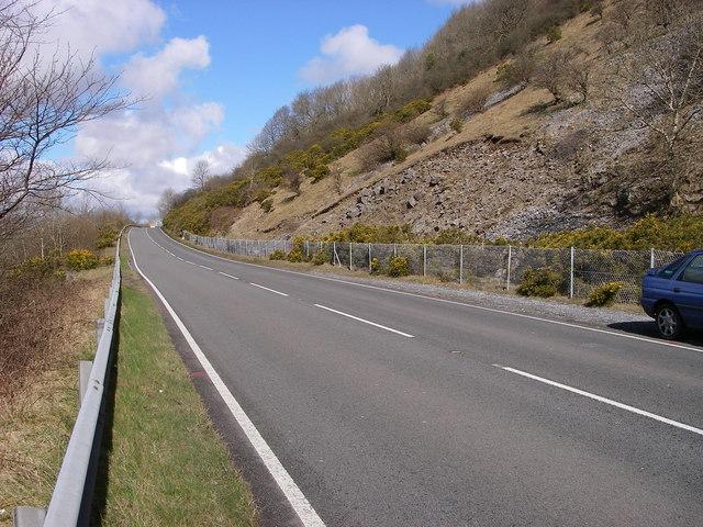 A470 below Darren Fach