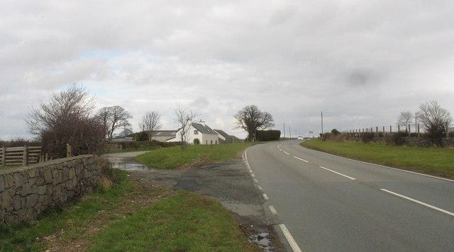 Erw Fawr Farm on the B4366