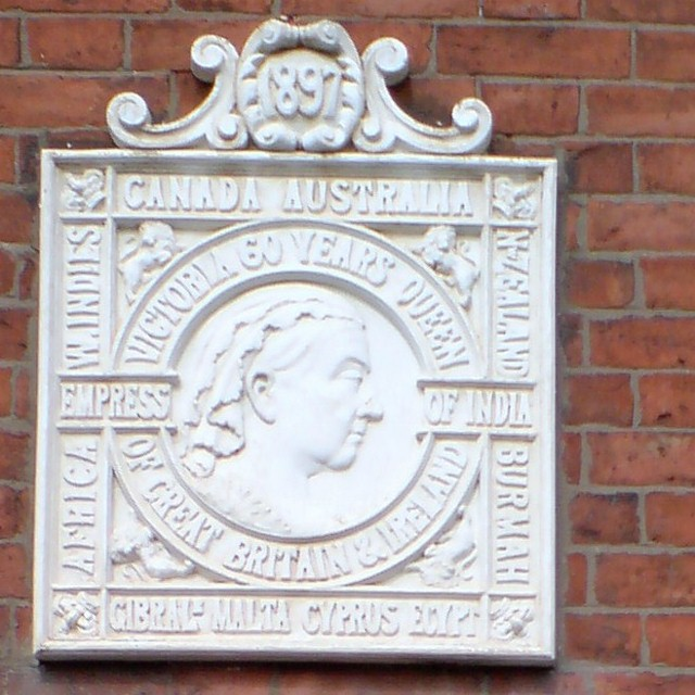 Plaque on the front of Bray and Bray Solicitors