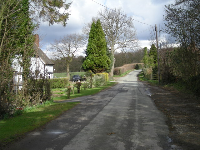 Lane past Woodside Cottages