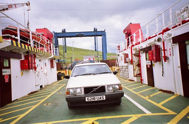 Boarding the Houton bound ferry at Lyness