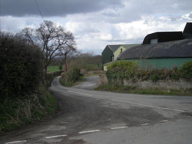 Junction at Harnage Grange