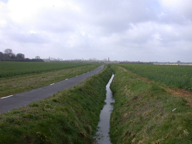 Ditch and cycleway