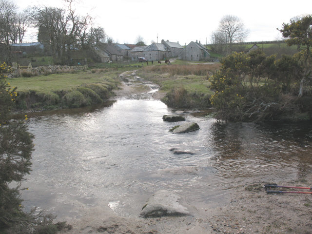 Stepping stones over the Walla Brook
