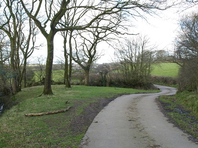 Farm road to Burscott
