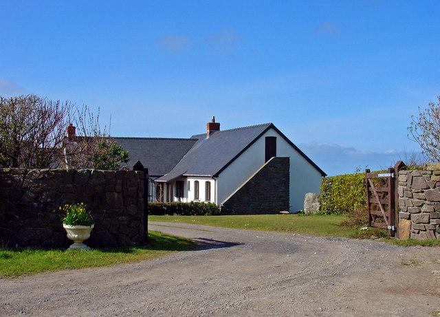 New house near Bryn-maen, Felin-wynt