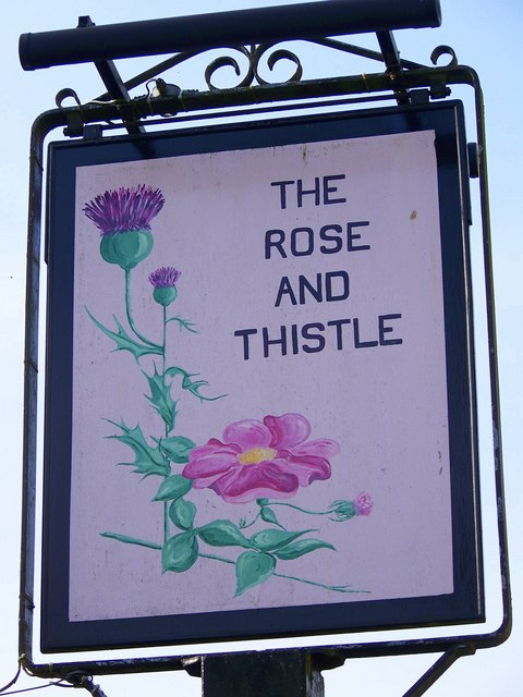 Sign for the Rose and Thistle