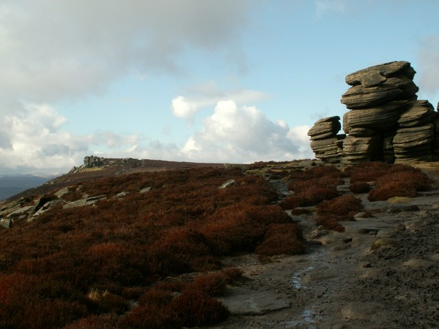 Wheel Stones with White Tor left hand skyline