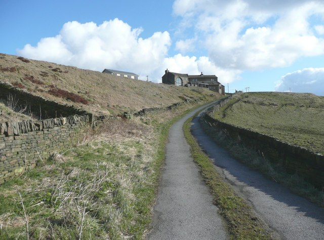 Lane from Waterloo up to Marsden Gate, Stainland
