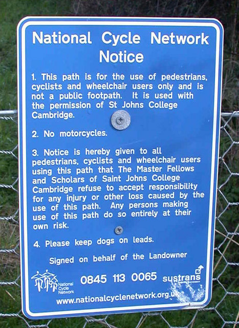 National Cycle Network Notice