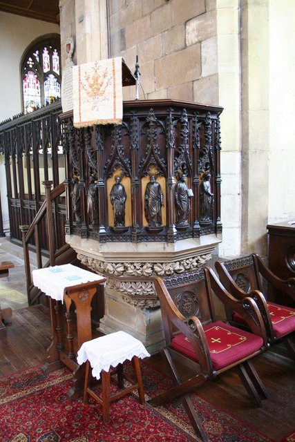 St.James' church pulpit