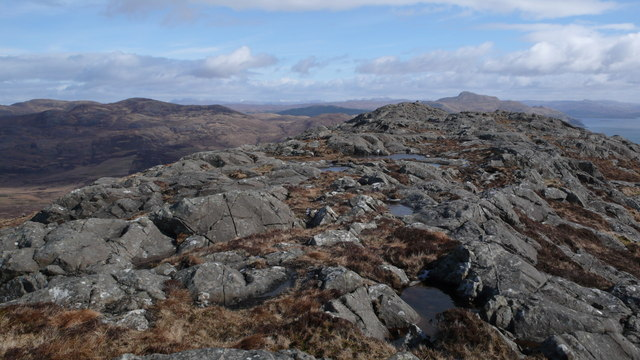 Summit ridge of Beinn na Seilg
