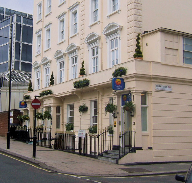 Comfort Inn, St Georges Drive junction of Hugh Street, Victoria, London SW1