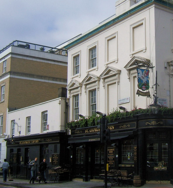 St George's Tavern, Belgrave Road junction of Hugh Street, London SW1